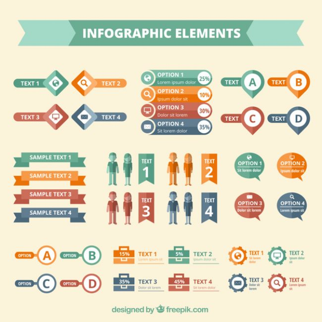 Free vector Colored infographic elements #10453