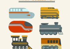 Free vector Colored train pack #4595