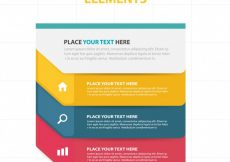 Free vector Colorful infographic elements template #5557