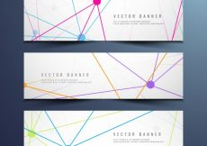 Free vector Colorful modern technology banners #6298