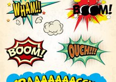Free vector Comic explosions collection #8938