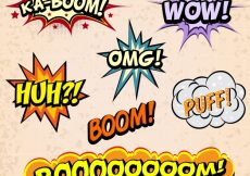 Free vector Comic expressions collection #8932