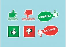 Free vector Correct Incorrect Icons Vector Free #5496