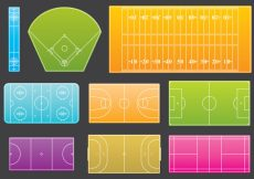 Free vector Courts Line Icons #8028