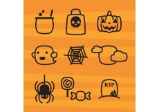 Free vector Cute Halloween Icons #8056