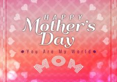 Free vector Cute mother's day design with hearts #5831