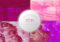 Free vector Dark pink watercolor background collection #7555