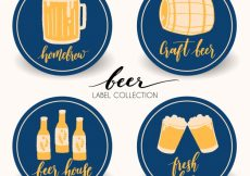 Free vector Decorative hand drawn beer stickers #5027