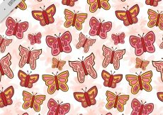 Free vector Decorative pattern of hand drawn butterflies #11413
