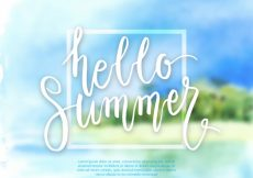 Free vector Defocused summer background with beach #8272