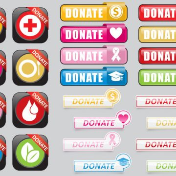 Free vector Donate Web Buttons #9489