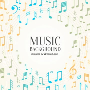 Free vector Elegant background of musical notes #12275