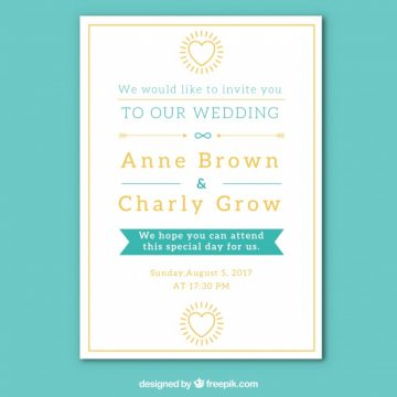 Free vector Elegant wedding card #11817