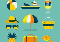 Free vector Fantastic assortment of summer elements #8546