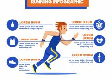 Free vector Fantastic running infographic template with man and orange details #5054
