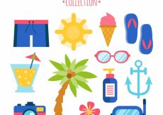 Free vector Fantastic selection of flat summer objects #5435
