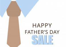 Free vector Father's day sale design with tie #8510