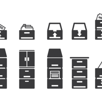 Free vector File Cabinet Icons #8823