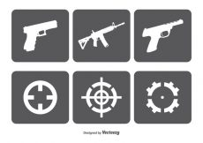 Free vector Fire Arms nad Target Vector Icon Set #7796