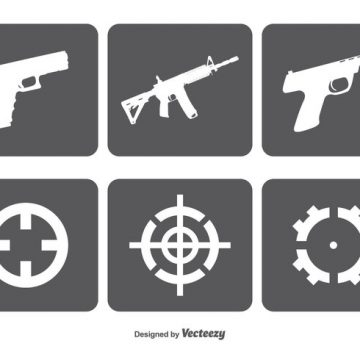 Free vector Fire Arms nad Target Vector Icon Set #7593