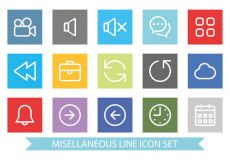 Free vector Flat and Clean Miscellaneous Icon Set #6225
