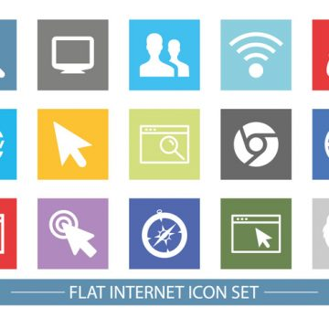 Free vector Flat Style Internet Related Icon Set #8367