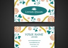 Free vector Floral business card design #9844