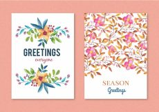 Free vector Floral greeting card design #9636