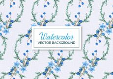 Free vector Floral watercolor background #9688