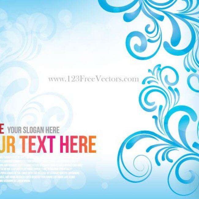 Free vector Free Blue Floral Abstract Background #4169