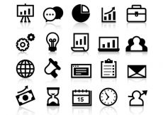 Free vector Free Business Grow Up Icons Vector #9318
