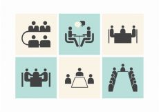 Free vector Free Business Meeting Tables Vector Icons #9679