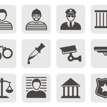 Free vector Free Crime Icons Vector #8583