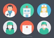 Free vector Free Flat Hospital Vector Icons #4873