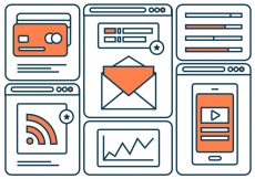 Free vector Free Flat Line Marketing Vector Icons #6991
