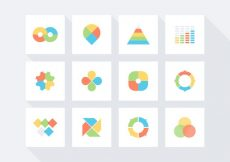 Free vector Free Infographic Vector Icon Set #6012