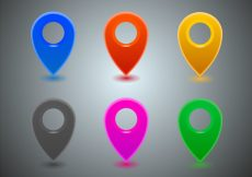 Free vector Free Map Icons Vector #5446