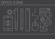 Free vector Free Office Icons #6056