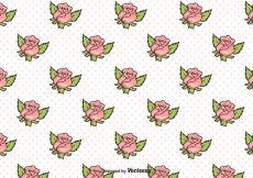 Free vector Free Retro Roses Background Vector #12304