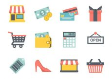 Free vector Free Shopping Icons Vector #8575