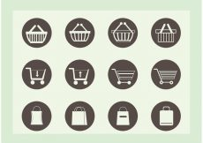 Free vector Free Shopping Vector Icons #8779