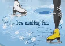 Free vector Free Vector Background with Feet in Figure Skates #11250