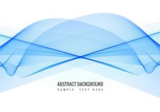 Free vector Free Vector Blue Wave background #10987