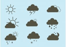 Free vector Free Vector Weather Icon Set #8861