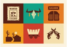 Free vector Free Vector Wild West Icons #7357