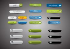Free vector Free Web Buttons Set 13 Vector #5590