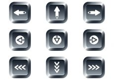 Free vector Free Web Buttons Set 15 Vector #10057