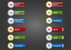 Free vector Free Web Buttons Set 16 Vector #10137