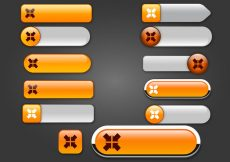 Free vector Free Web Buttons Set 17 Vector #10033