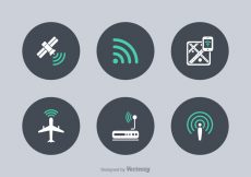 Free vector Free WiFi Technology Vector Icons #5424